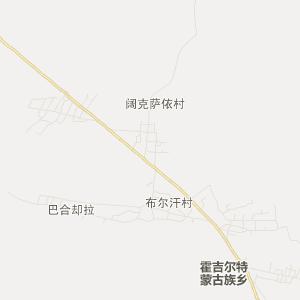 额敏霍吉尔特旅游地图