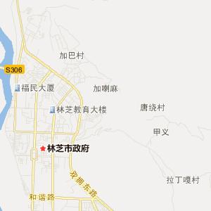西藏林芝旅游地图_林芝在线旅游图图片