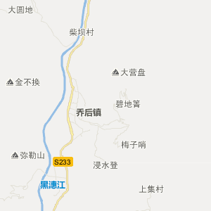 洱源县乔后镇旅游地图图片