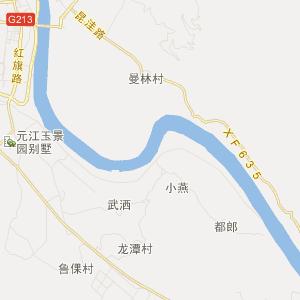 玉溪市元江县交通地图