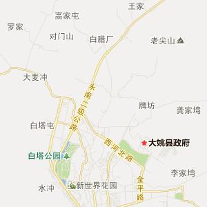 云南交通地图 楚雄交通地图