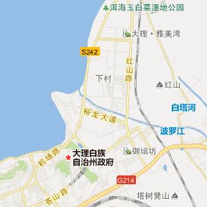 云南大理旅游地图_大理在线旅游图