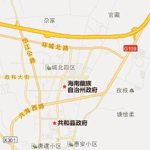 = 青海海南旅游地图 =