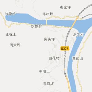 屏山县新市镇交通地图