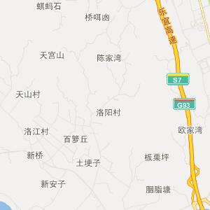 罗城镇旅游地图 芭沟镇旅游地图