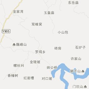 眉山市青神县旅游地图