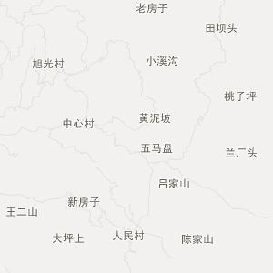 屏山县龙溪乡旅游地图