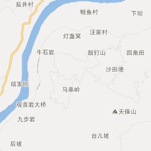 屏山县乡镇地图