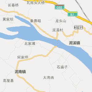 宜宾县泥南乡交通地图