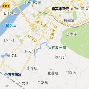 四川宜宾高清交通地图