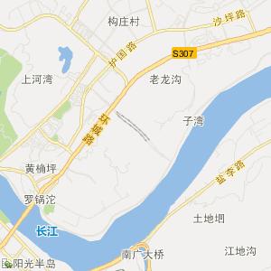 四川省交通地图 宜宾市交通地图