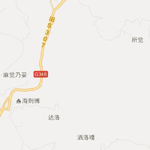 凉山昭觉旅游地图_中国电子地图网