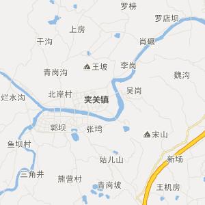 名山县黑竹镇旅游地图