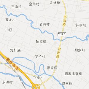 都江堰市翠月湖镇旅游地图