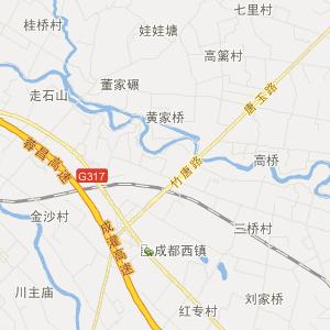 都江堰市崇义镇旅游地图