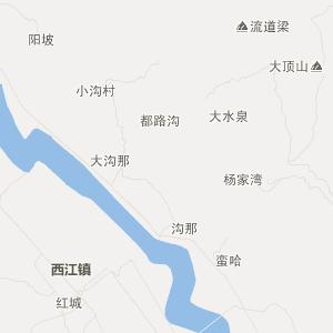 岷县梅川交通地图_中国电子地图网