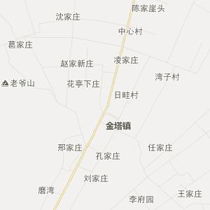 凉州区金塔乡交通地图