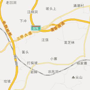 织金三甲交通地图_中国电子地图网
