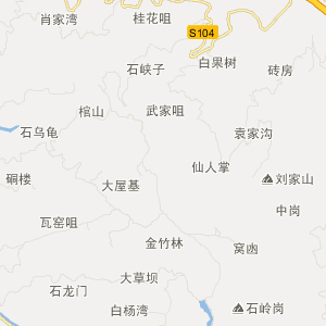 巴南跳石旅游地图