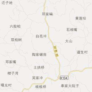 四川省旅游地图 内江市旅游地图