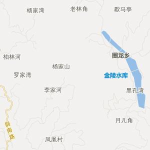 四川省旅游地图 广元市旅游地图