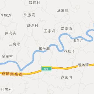 四川省旅游地图 南充市旅游地图