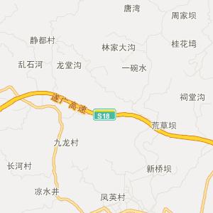 蓬溪县农兴乡交通地图