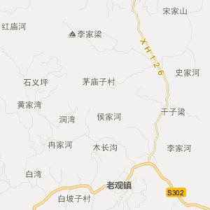 阆中市西山乡旅游地图