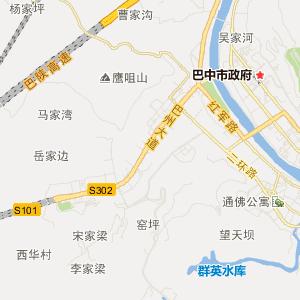 四川省巴中市交通地图图片