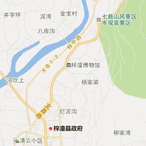 礳石风景区地图