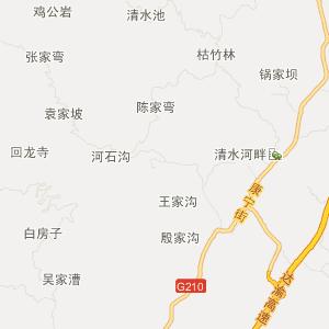 邻水柑子旅游地图_中国电子地图网