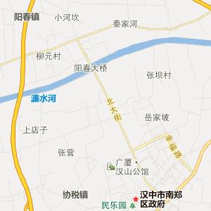 汉中南郑旅游地图_南郑在线旅游图查询