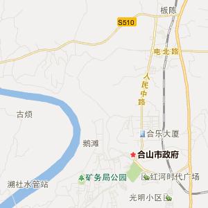 来宾合山交通地图_合山在线交通图查询
