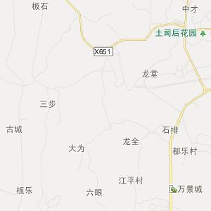 来宾市忻城县旅游地图