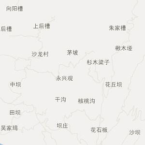 恩施板桥到鹤峰县地图