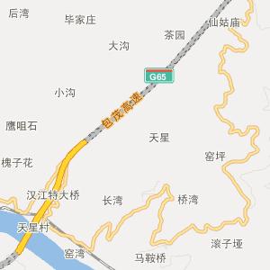 紫阳县城关镇旅游地图