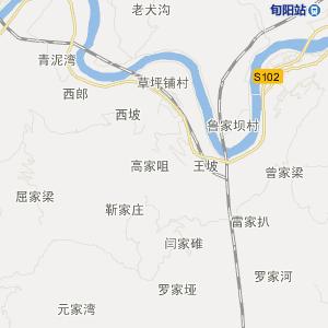 陕西交通地图 安康交通地图