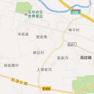 泾阳县高庄镇高清旅游地图