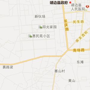 榆林靖边交通地图_中国电子地图网