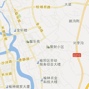 陕西榆林市榆阳区地图