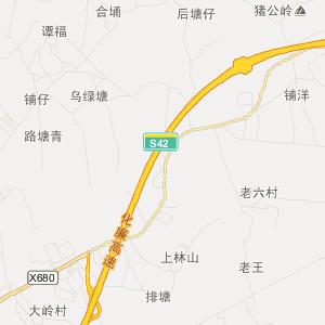 廉江横山高清交通地图