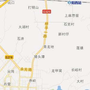 阳西程村交通地图_中国电子地图网图片