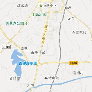 湛江廉江旅游地图_中国电子地