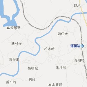 廉江市河唇镇旅游地图