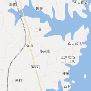廉江市和寮镇旅游地图