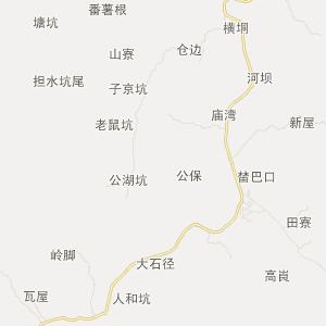 广东省旅游地图 云浮市旅游地图