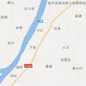 广西交通地图 贵港交通地图