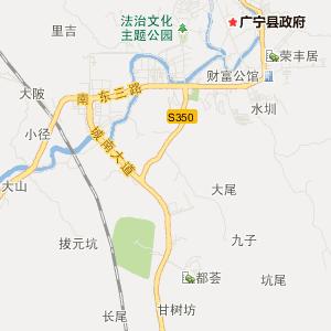 肇庆广宁交通地图_中国电子地图网图片