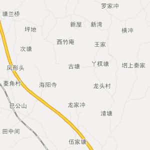 邵阳县白仓镇交通地图