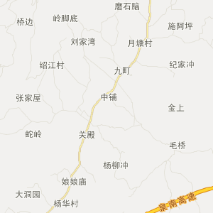 祁阳县梅溪镇交通地图